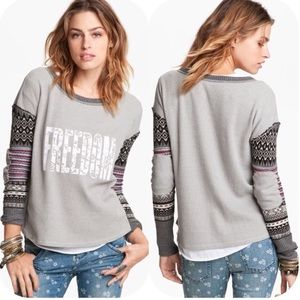 Free People We the Free Freedom Thermal Top